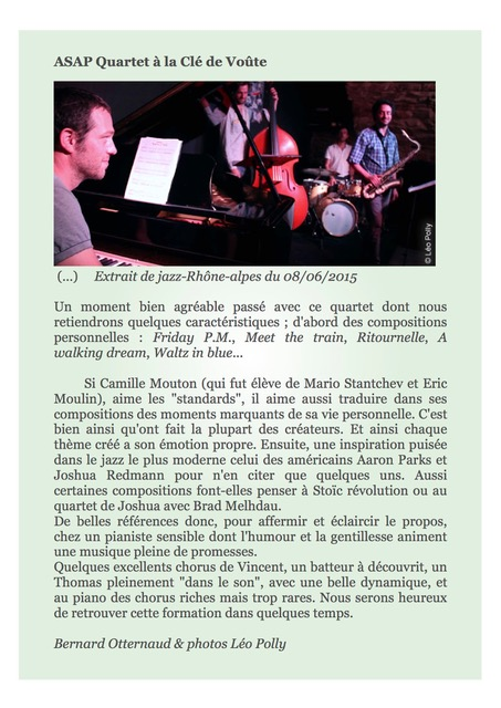 Article jazz rhone alpes