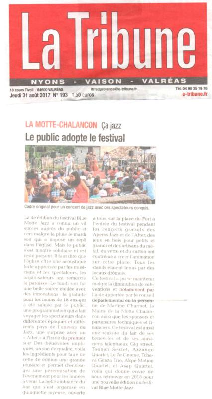 Article la tribune 31 aout 2017 v2